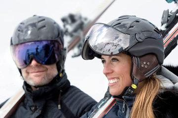 CP Carbon ski helmet with visor