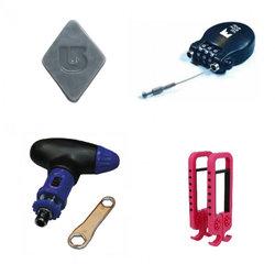 Ski locks, ski tools and wax