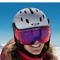 Ski helmet with Visor Woman