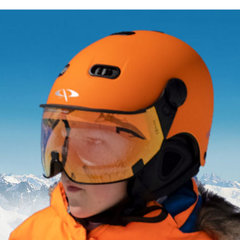 Ski helmet with Visor Child