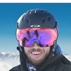 Ski helmet with Visor Men