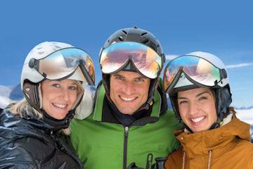 CP Ski helmet with Visor men, woman and child