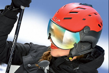 CP Camurai Helmet with Visor Ski for men and woman