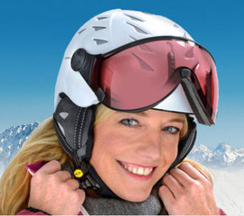 Ski helmet with Visor SALE