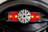 slokker bakka zwart rood skihelm leuchtt Visier mit Lichtern-ski helmet with lights