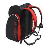 skischoenen tas met helmvak zwart rood skihelmtas2