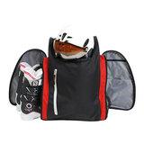 skischoenen tas met helmvak zwart rood skihelmtas3