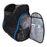 skischoenen tas met helmvak zwart blauw skihelmtas2