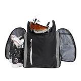 skischoenen tas met helmvak zwartzilver skihelmtas 2