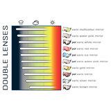 cp 20 skihelm vizier visor visier photochromic - photochrom - polarised - polarisiert