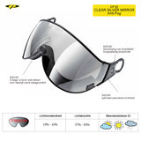 CP 02 Clear Silver Mirror Visor Camurai en Cuma S2 CP10102