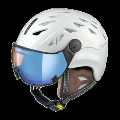 Cp Ski Helmet with Visor Women White - Cp Cuma Cashmere - Photochromic/Polarized/Mirror ❄/☁/☀