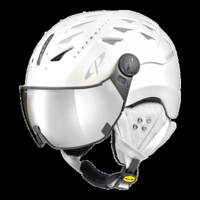 Helmet With Visor Women White  - Cp Cuma Swarovski Elements - Photochromic/Mirror ❄/☁/☀ -