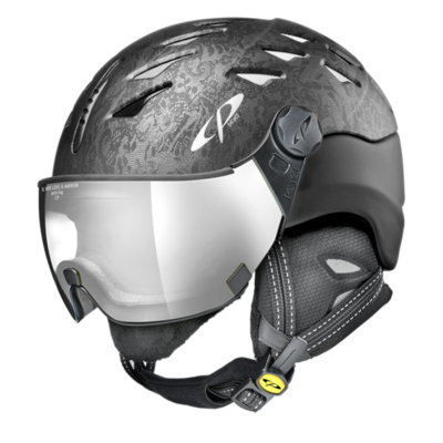 Helmet With Visor Cp Cuma Cubic - Photochromic/Mirror ❄/☁/☀ - black