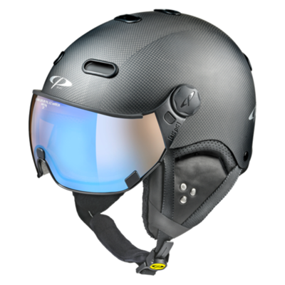 Helmet With Visor Black - CP Carachillo Carbon - Photochromic/Polarized/Mirror  ☁/❄/☀