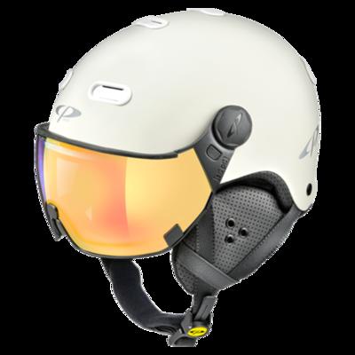 Helmet With Visor White - CP Carachillo - Mirror - ❄/☁/☀