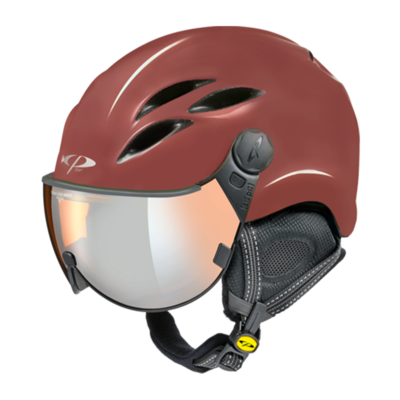 Helmet With Visor CP Curako - Red - Mirror  ☁/❄/☀
