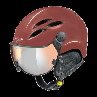 Helmet With Visor CP Curako - Red - Mirror  ☁/❄/☀