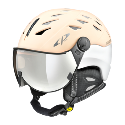 Helmet With Visor White - Cp Cuma - Photochromic/Mirror ☁/❄/☀