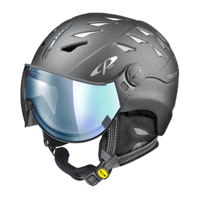 Cp Ski Helmet with Visor Grey - Cp Cuma Cashmere - Photochromic/Polarized/Mirror ❄/☁/☀