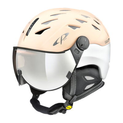 Helmet With Visor White - Cp Cuma - Mirror ☁/❄/☀