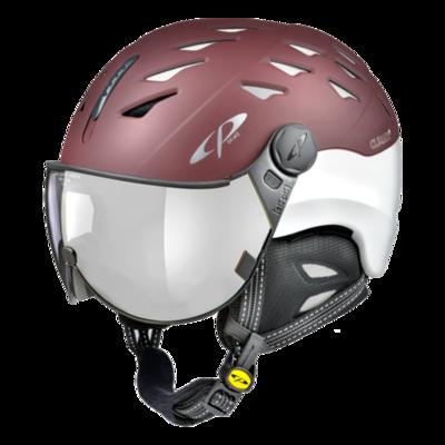 Helmet With Visor Red White - Cp Cuma - Mirror ☁/❄/☀