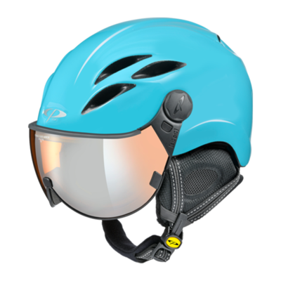 Helmet With Visor Blue - CP Curako - Mirror  ☁/❄/☀