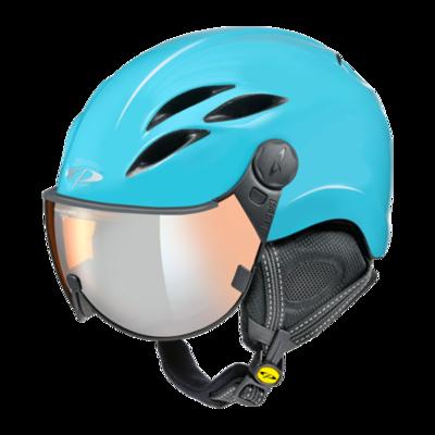 Helmet With Visor Blue - CP Curako - Mirror  ☁/❄/☀