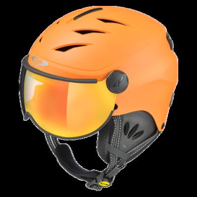 Kids Ski Helmet with Visor Child Orange - Cp Camulino - Mirror - ☁/❄/☀