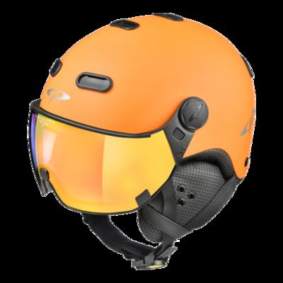 Helmet With Visor Orange Black - CP Carachillo - Mirror - ❄/☁/☀