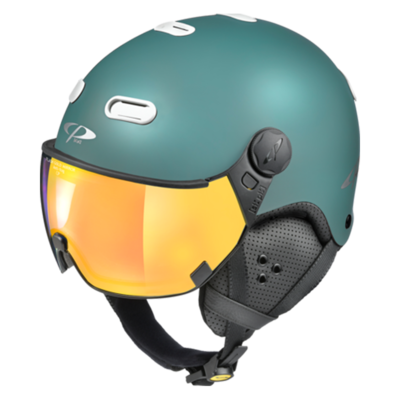 Helmet With Visor Blue White - CP Carachillo - Mirror - ❄/☁/☀