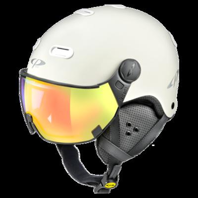 Helmet With Visor White - CP Carachillo - Photochromic Mirror - ❄/☁/☀