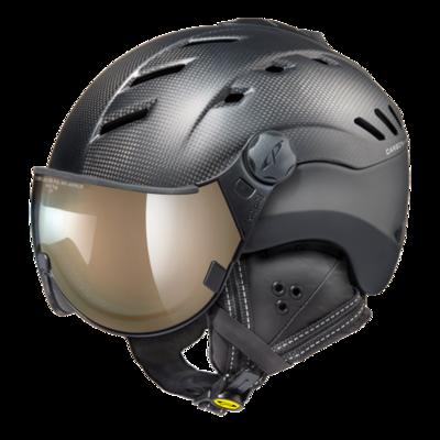 Ski Helmet Black - CP Camurai - Photochromic & Mirror Visor (❄/☁/☀)