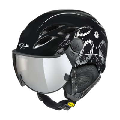 Helmet With Visor Women Black- Cp Curako - Mirror Visor ☁/❄/☀