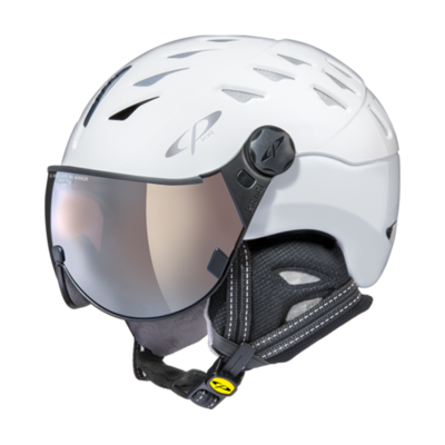 Helmet With Visor White - Cp Cuma - Mirror Visor (☁/❄/☀)