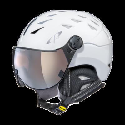 Helmet With Visor White - Cp Cuma - Mirror Visor (☁/❄/☀)