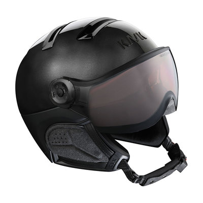 Kask Chrome Black - Ski Helmet with Visor Kask - Photochromic Visor  (☀/☁) Cat.2