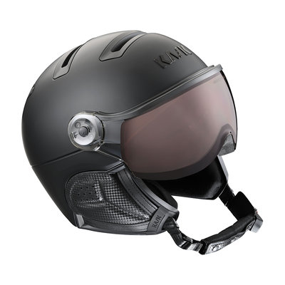 Kask Class Shadow Black - Ski Helmet with Visor - Photochromic Visor (☁/❄/☀)