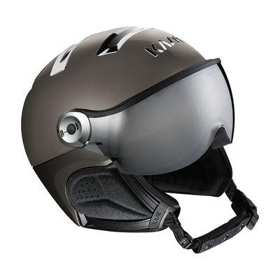 Kask Chrome Platinum Ski Helmet with Visor Grey Mirror Visor  (☀/☁) Cat.2