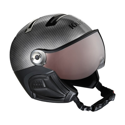 Ski Helmet with Visor Carbon Black - Kask Elite Photochromic - Photochromic Visor (☀/☁) Cat.2
