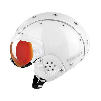 Skihelm White - Casco SP-6 Visier - Photochromic Vautron Visor - cat.1-3(☁/❄)