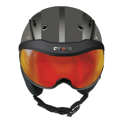 Skihelm Grey - Casco SP-6 SIX Visier - Photochromic vautron Visor - cat.1-3(☁/❄)