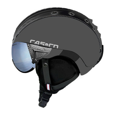Skihelm Grey - Casco SP-2 Visor - Polarized Visor