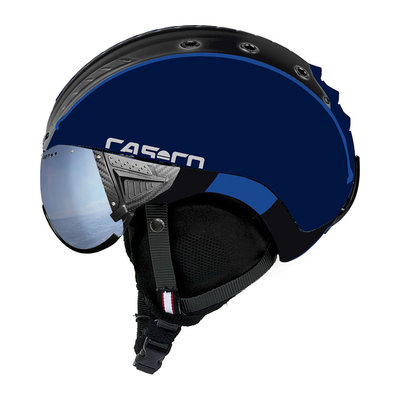 Skihelm Blue Black - Casco SP-2 Visor - Polarized Visor