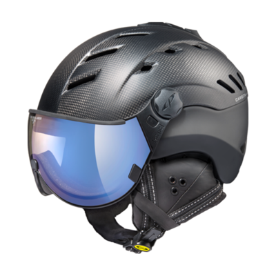 Ski Helmet Black - CP Camurai - Photochromic & Mirror Visor (❄/☁/☀)