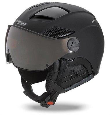 Ski helmet Mango quota free - total black mat - photochromic & polarised cat. 2 (☁/❄/☀)