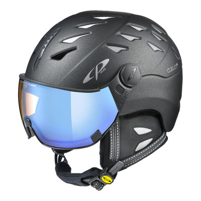 Cp Ski Helmet with Visor Graphite - Cp Cuma Cashmere - Photochromic/Polarized/Mirror ❄/☁/☀