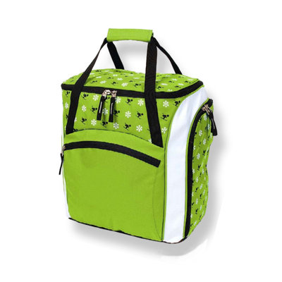 Ski helmet Bag & Skiboots Bag Child green white