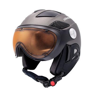 Ski helmet Slokker Raider Pro - grijs - Photochromic Polarized Visor (☁/☀/❄)