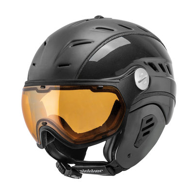 Slokker Bakka Ski helmet Black - Photochromic & Polarized Visor (☁/☀/❄)